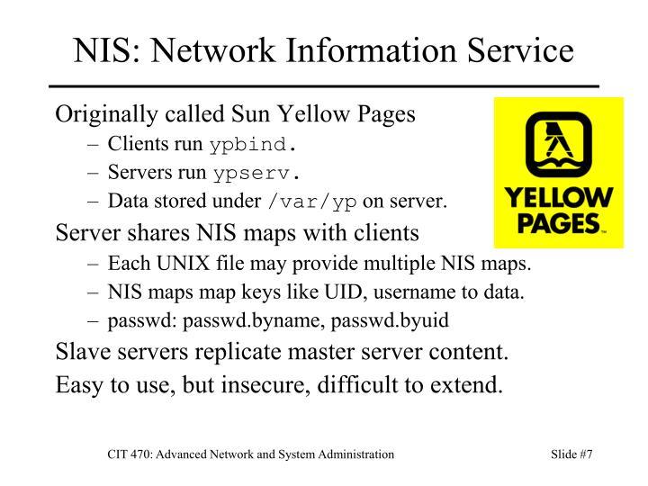 NIS: Network Information Service