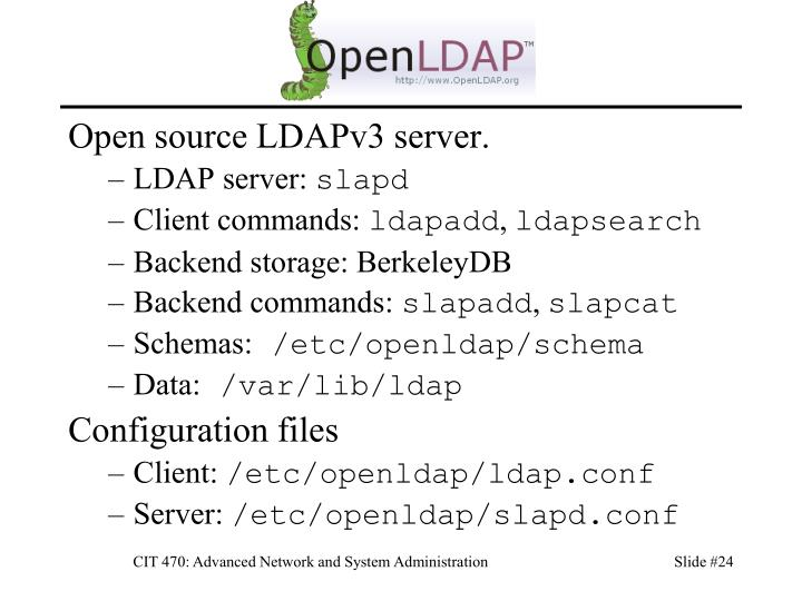 Open source LDAPv3 server.