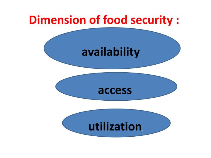Dimension of food security :