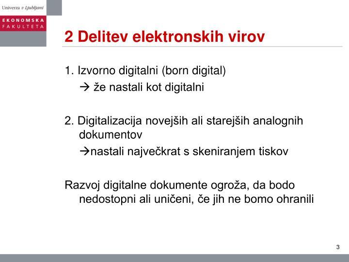 2 Delitev elektronskih virov