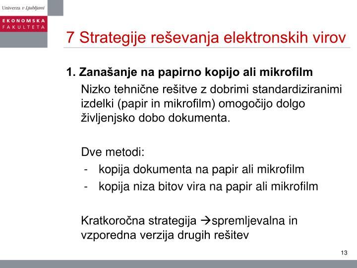 7 Strategije reševanja elektronskih virov