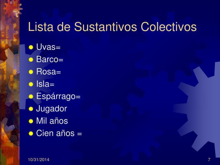Lista de Sustantivos Colectivos