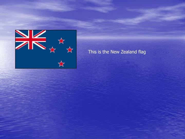 This is the New Zealand flag