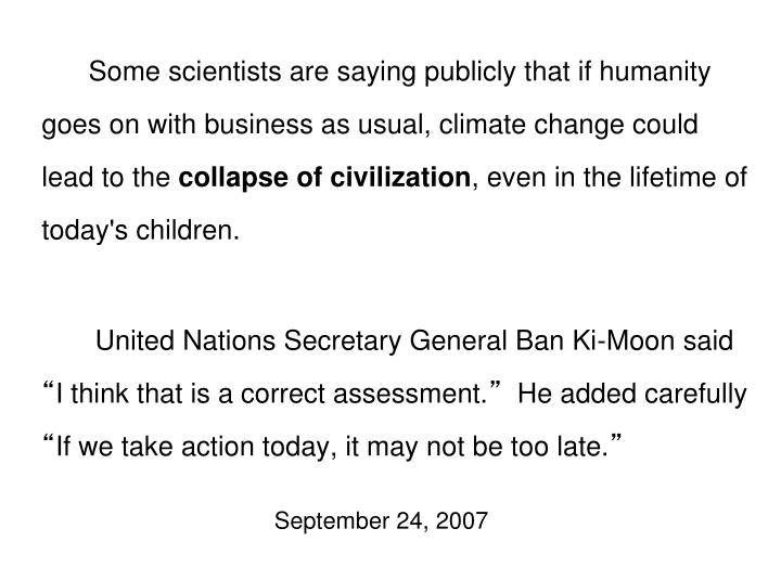 UN Chief on Climate Change