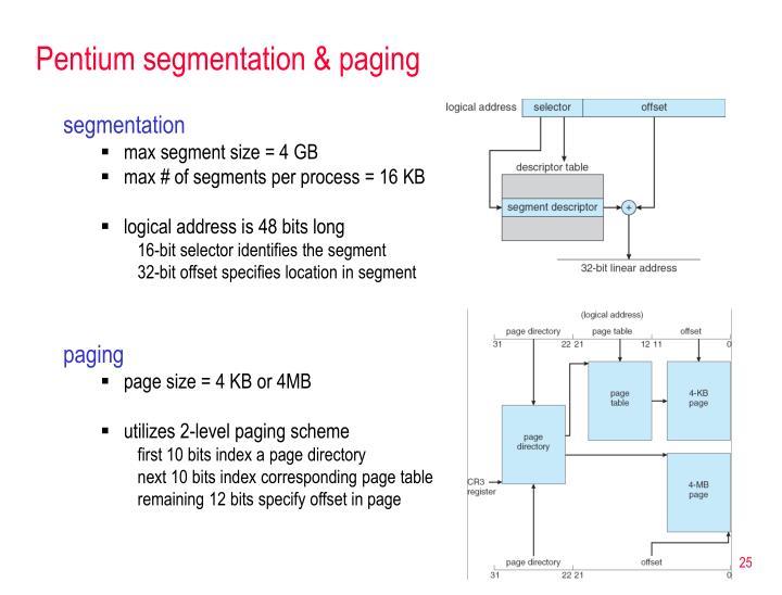 Pentium segmentation & paging