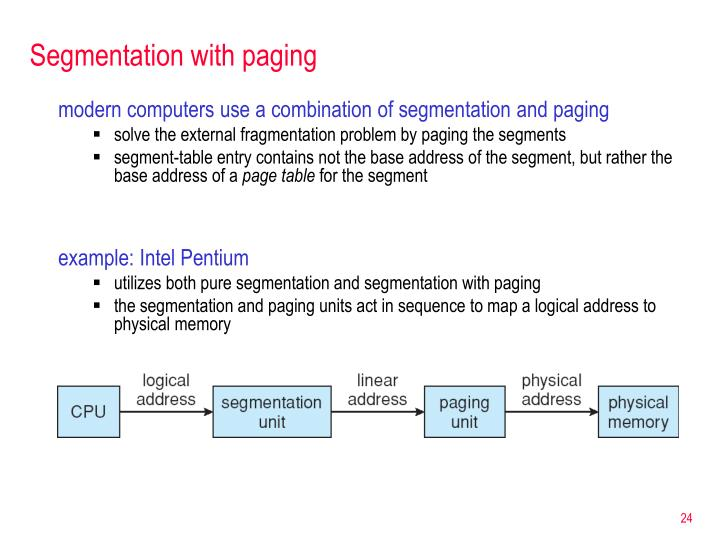 Segmentation with paging