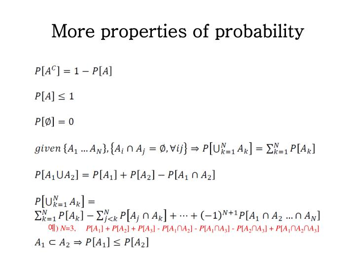 More properties of probability