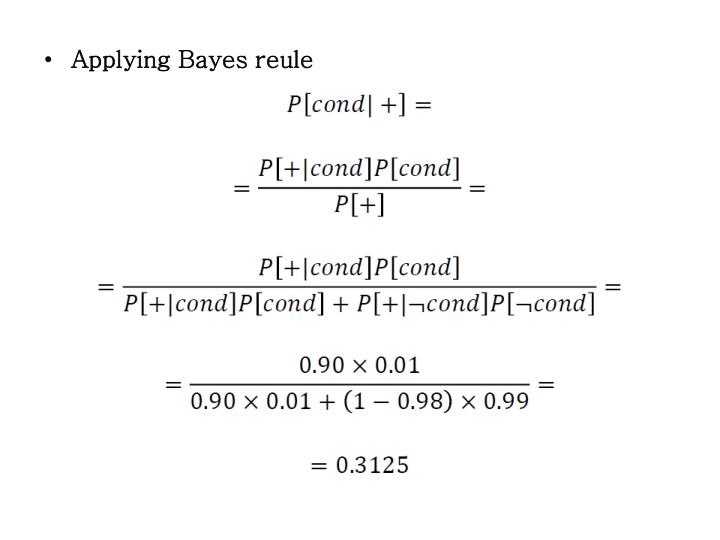 Applying Bayes reule