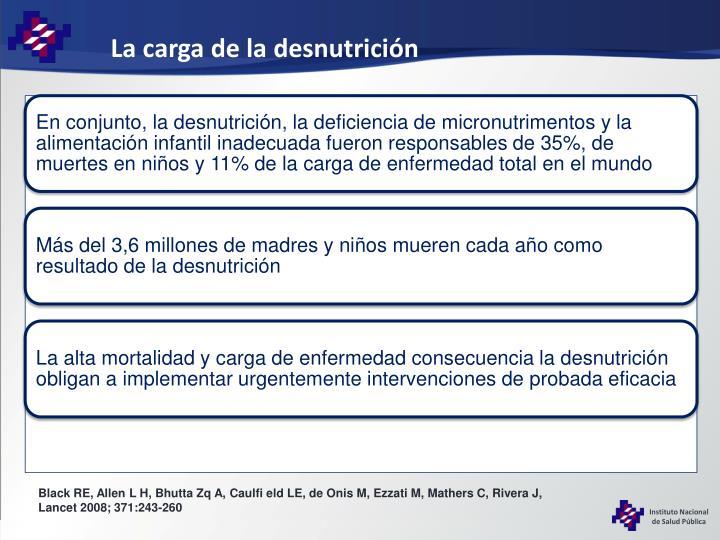 La carga de la desnutrición