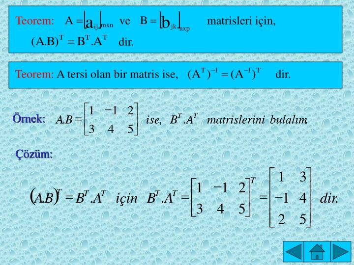 Teorem: