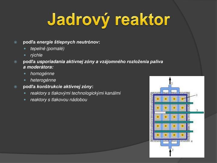 Jadrový reaktor