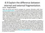 8 9 explain the difference between internal and external fragmentation