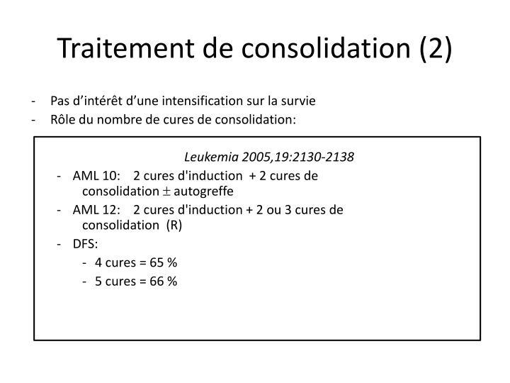 Traitement de consolidation (2)
