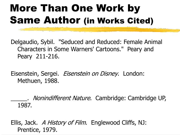 More Than One Work by Same Author