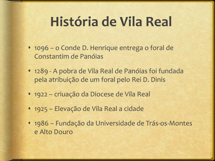 História de Vila Real