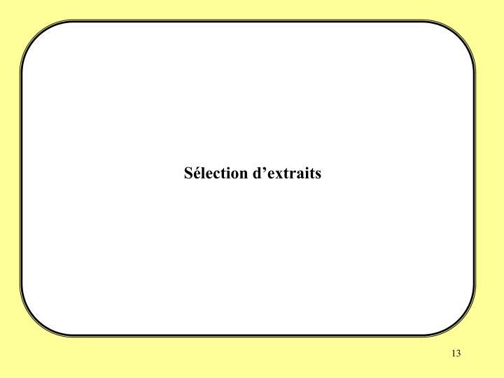 Sélection d'extraits