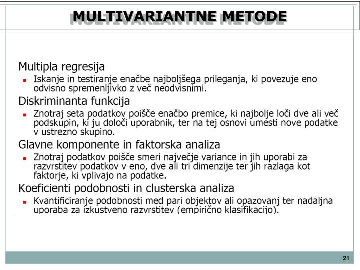 MULTIVARIANTNE