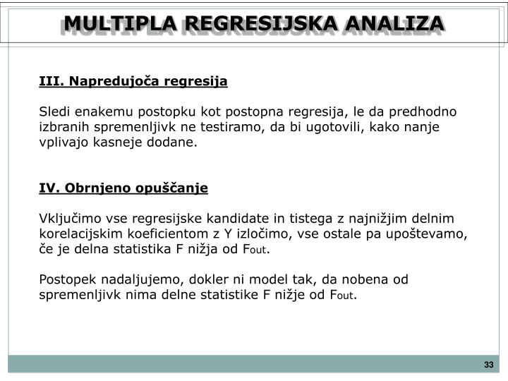 MULTIPLA REGRESIJSKA ANALIZA