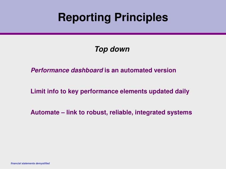 Reporting Principles