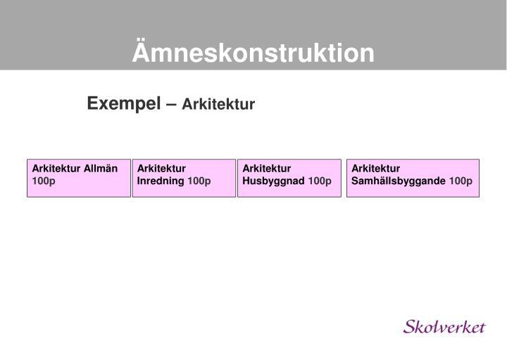 Ämneskonstruktion
