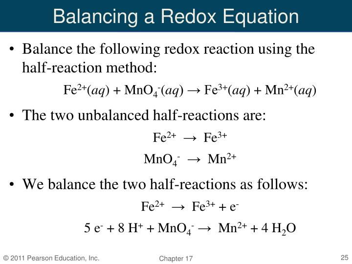 Balancing a Redox Equation