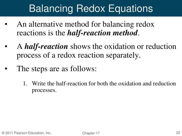 Balancing Redox Equations