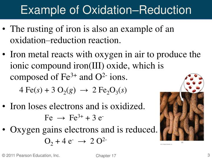 Example of oxidation reduction