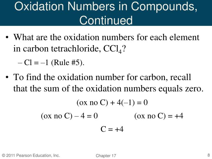 Oxidation Numbers in Compounds, Continued
