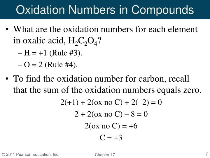 Oxidation Numbers in Compounds