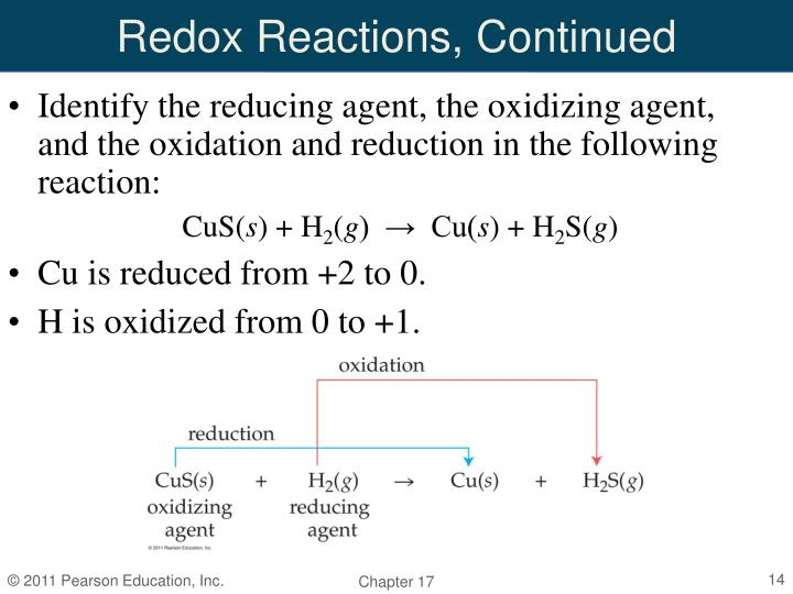 Redox Reactions, Continued