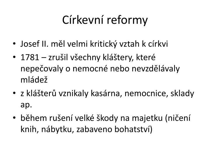Církevní reformy