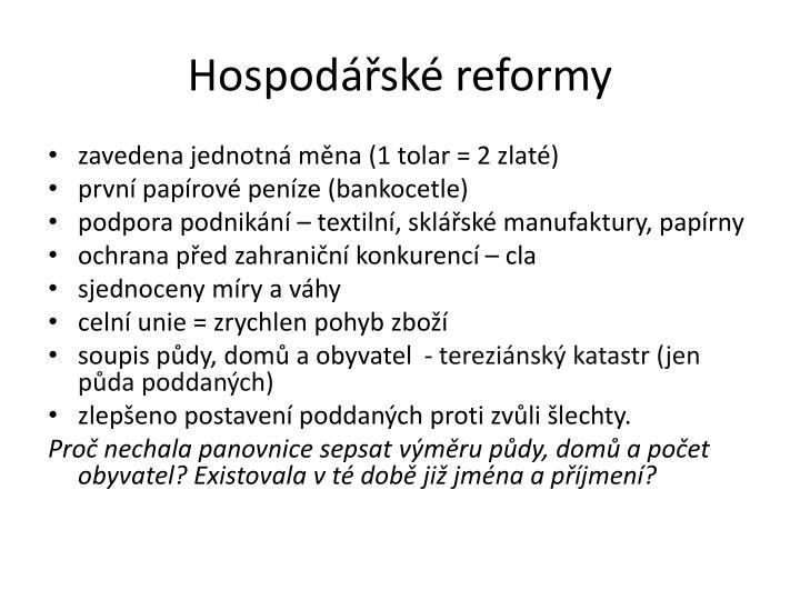 Hospodářské reformy