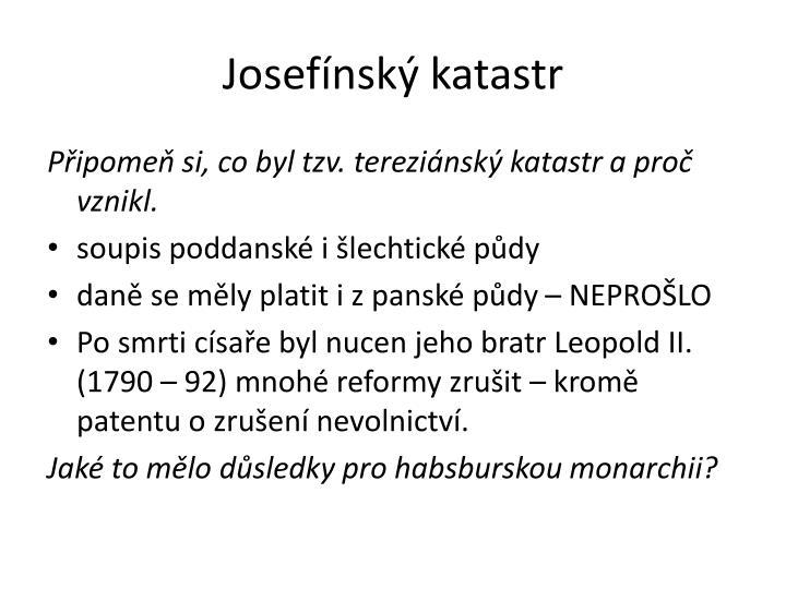 Josefínský katastr