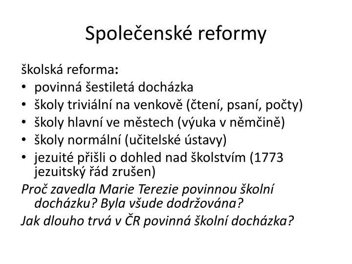 Společenské reformy