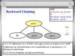 backward chaining11