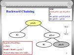 backward chaining16