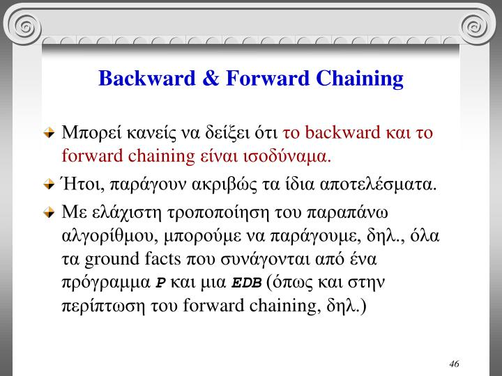 Backward & Forward Chaining