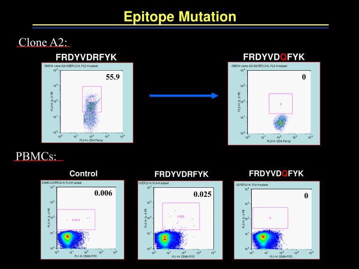 Epitope Mutation