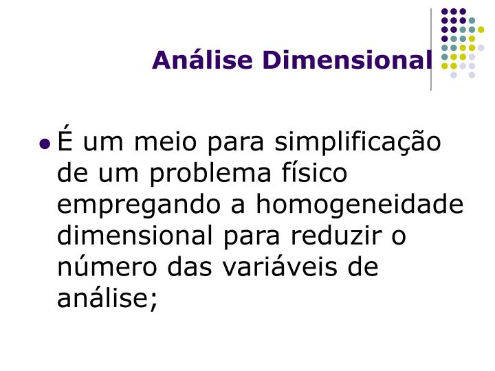 An lise dimensional