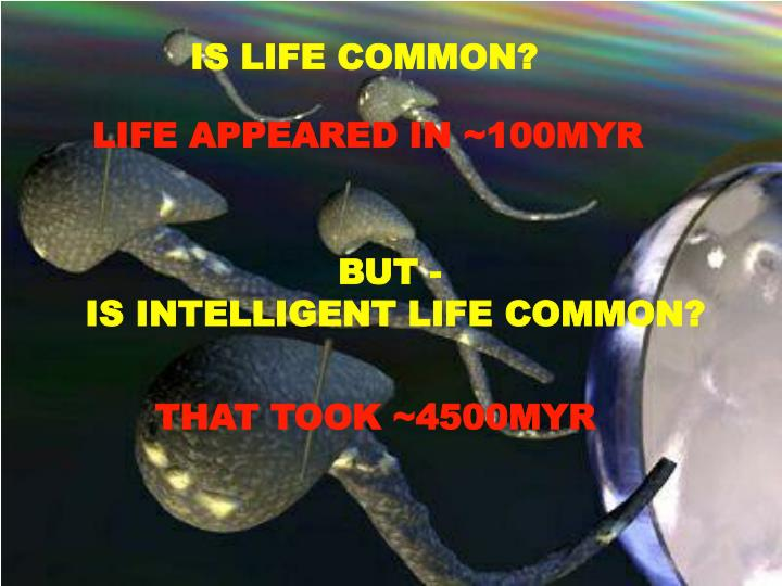 IS LIFE COMMON?