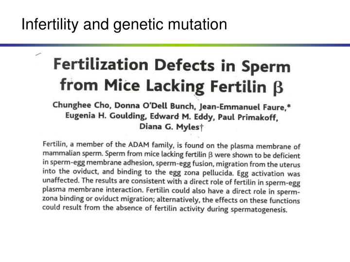 Infertility and genetic mutation