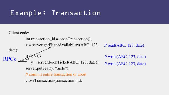 Example: Transaction
