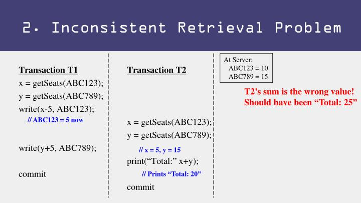 2. Inconsistent Retrieval Problem