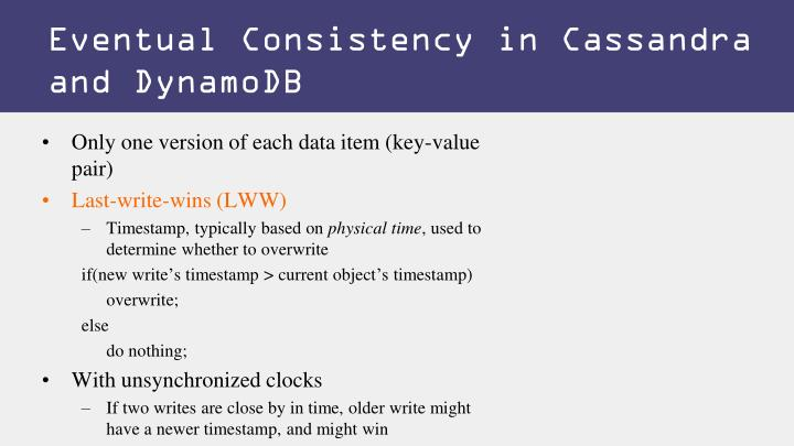 Eventual Consistency in Cassandra and