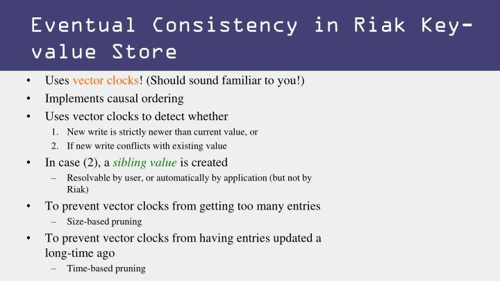 Eventual Consistency in