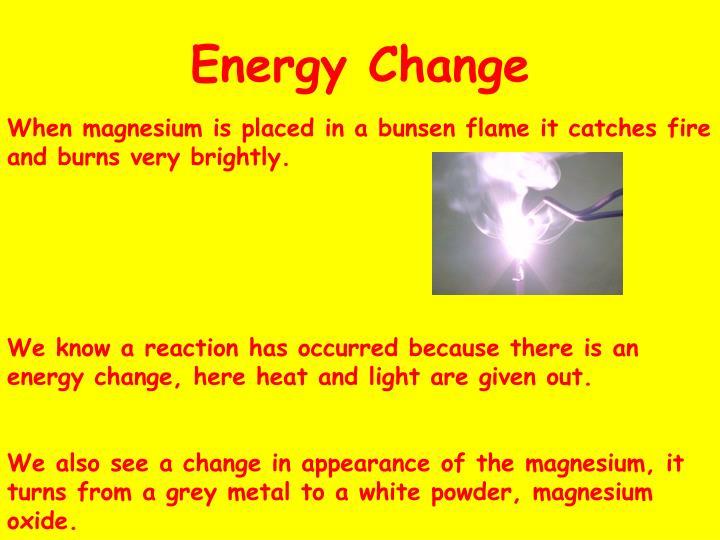 Energy Change