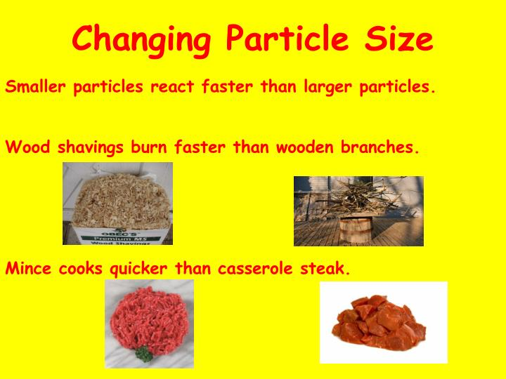 Changing Particle Size
