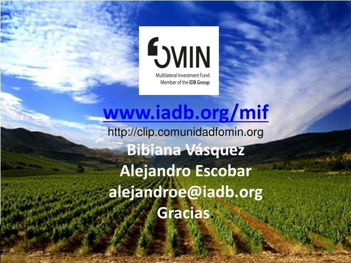 www.iadb.org/mif