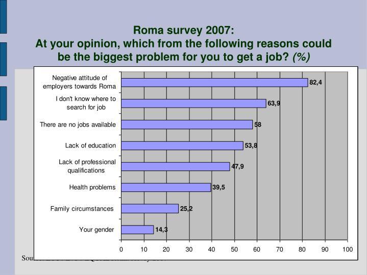 Roma survey 2007:
