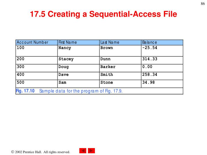 17.5 Creating a Sequential-Access File